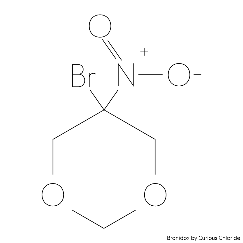 Structural formula of Bronidox