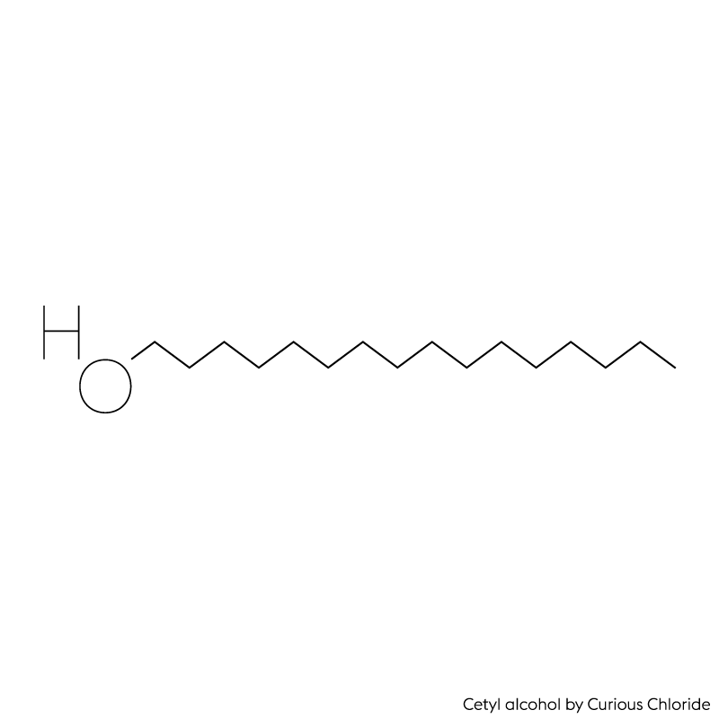 Structural formula of cetyl alcohol