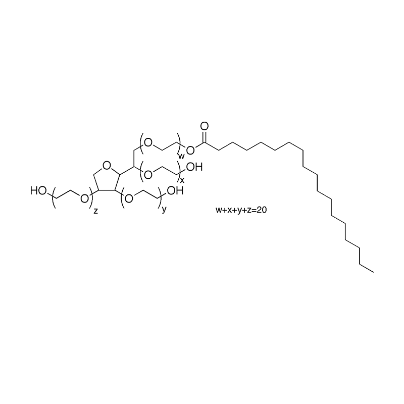 Structural formula of polysorbates 60