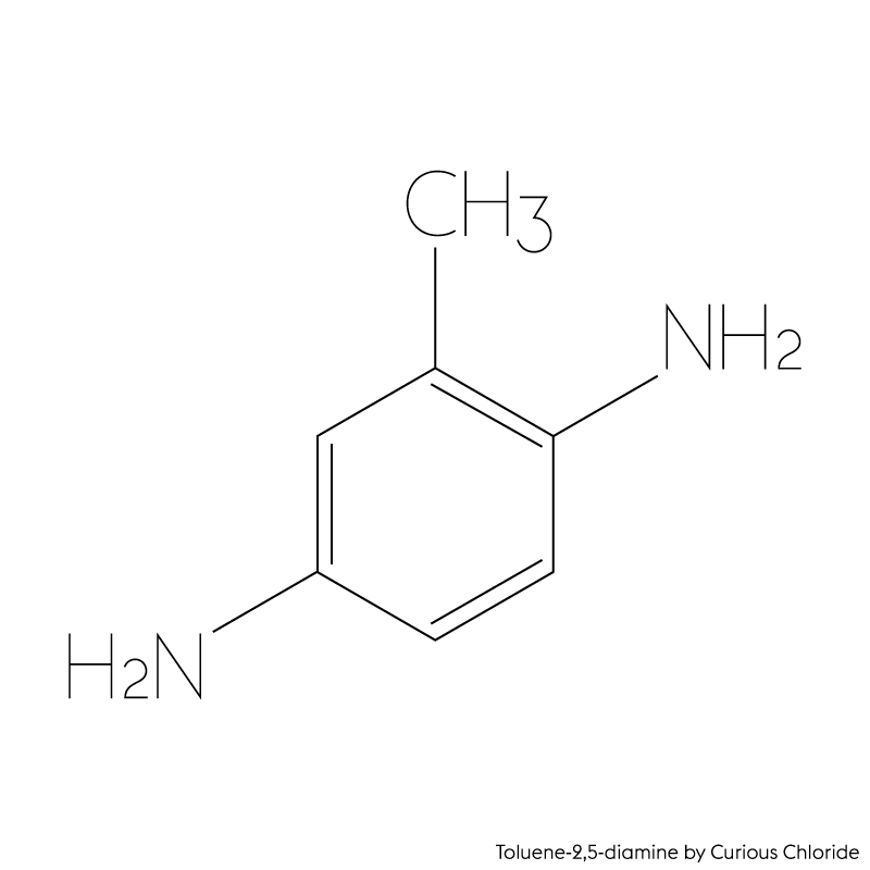 Structural formula of Toluene-2,5-diamine