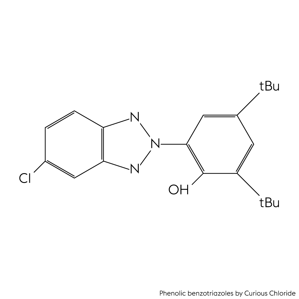 structure of UV-327 in the group phenolic benzotriazoles